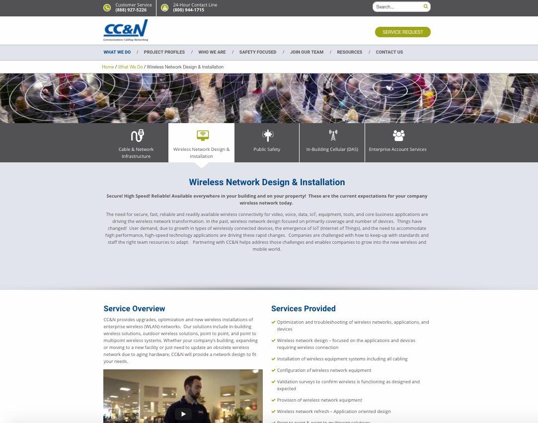 CC&N details webpage