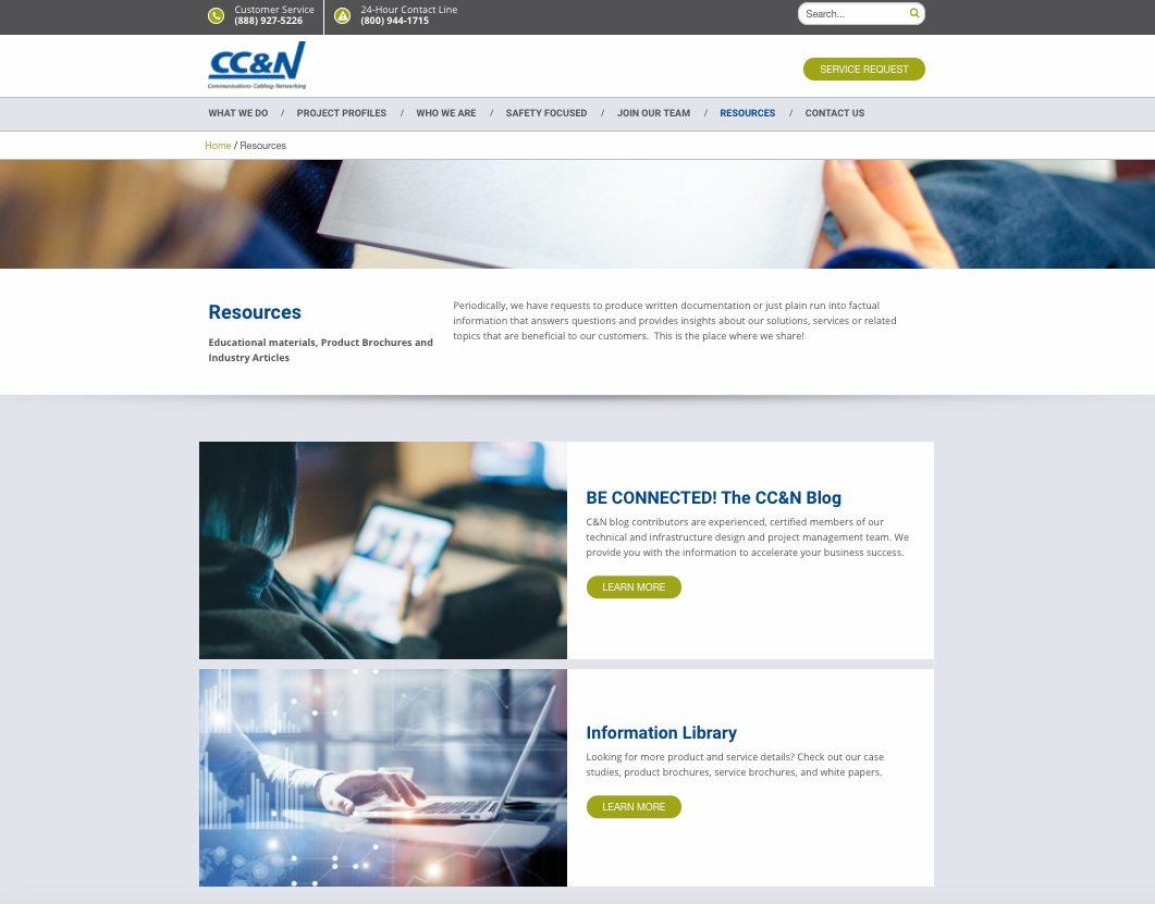 CC&N resources webpage
