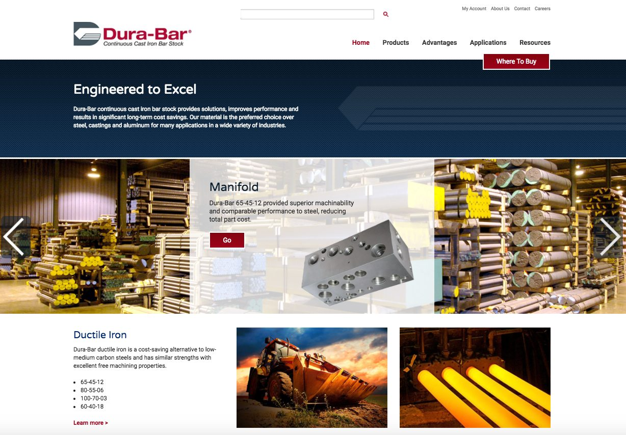 Dura-Bar homepage