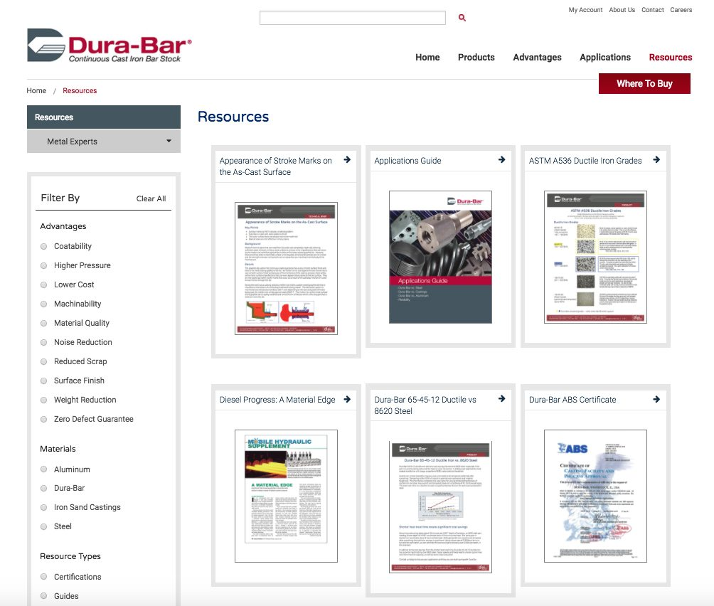 Dura-Bar resources webpage