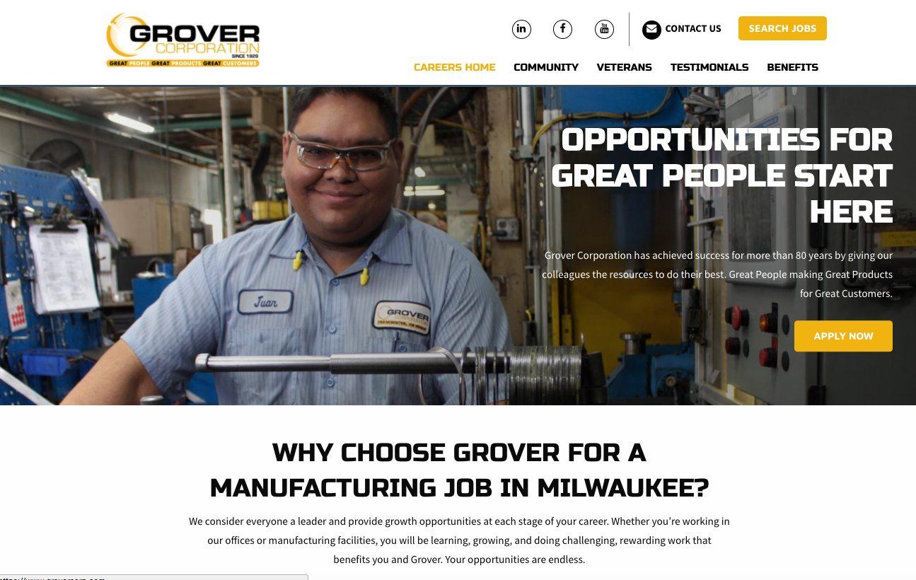 Grover Careers Homepage