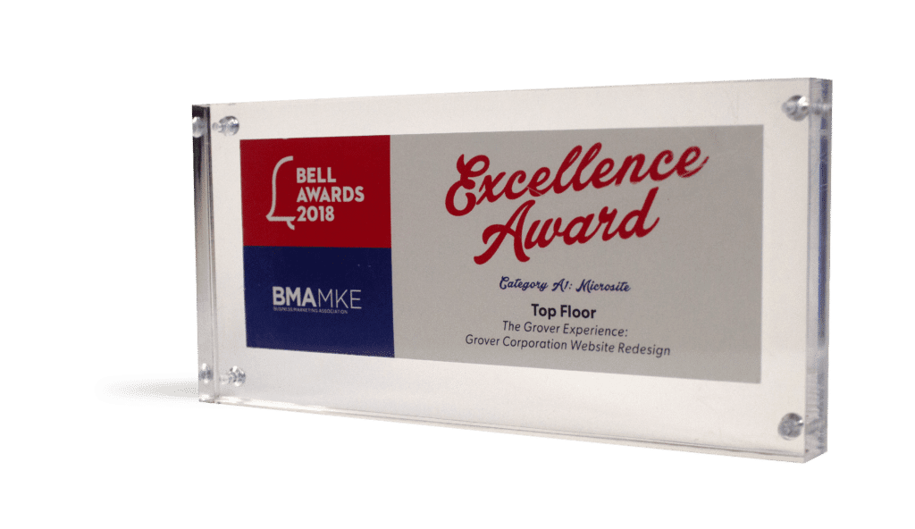 BMA MKE Bell Excellence Award Grover