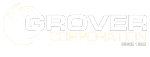 Grover Corporation white logo