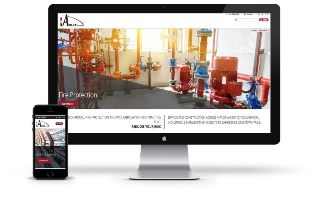 JF Ahern website on desktop and mobile