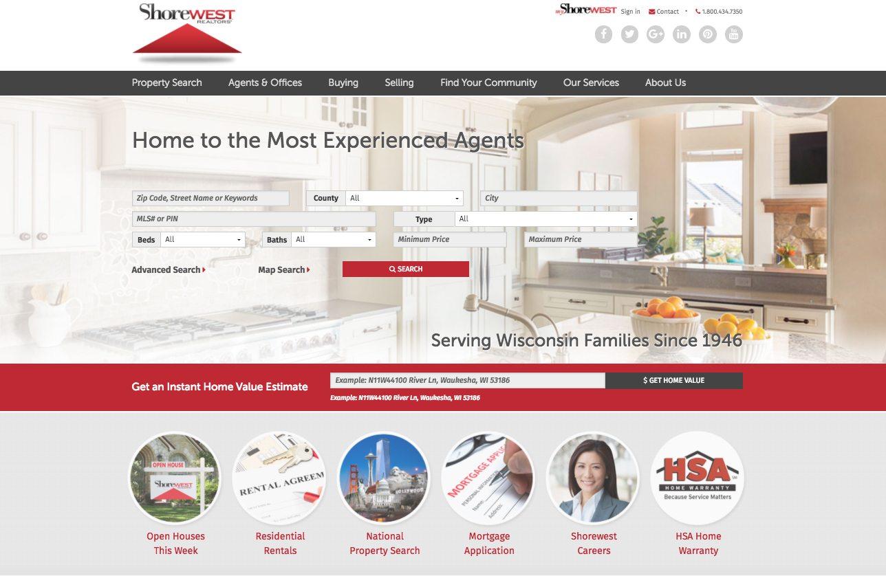 Shorewest homepage