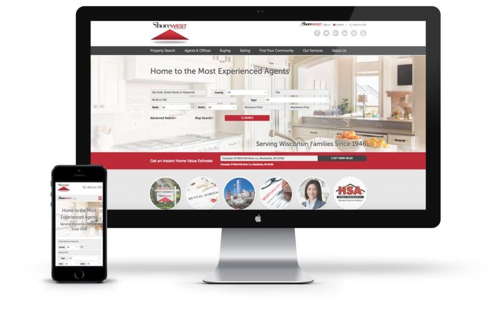 Shorewest website on desktop and mobile