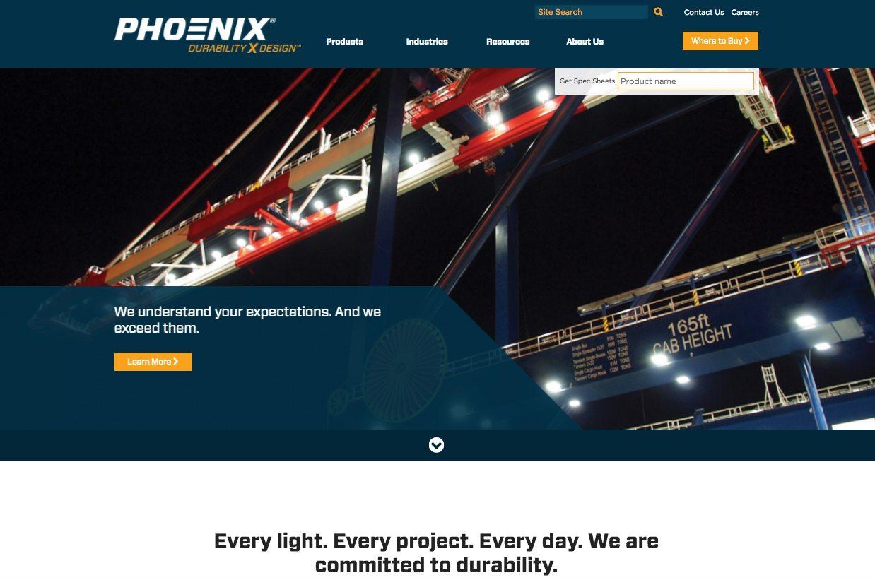Phoenix Lighting homepage