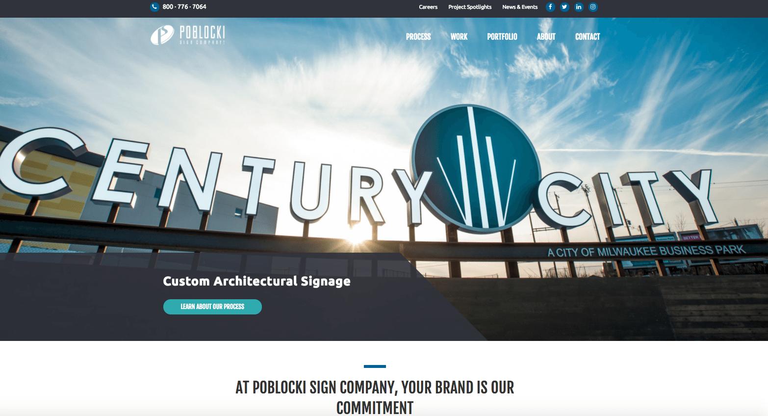 Poblocki Sign Company homepage