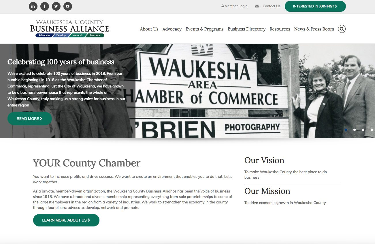 Waukesha County Business Alliance homepage