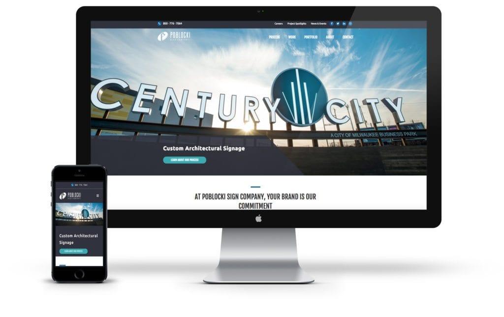 Poblocki website on desktop and mobile