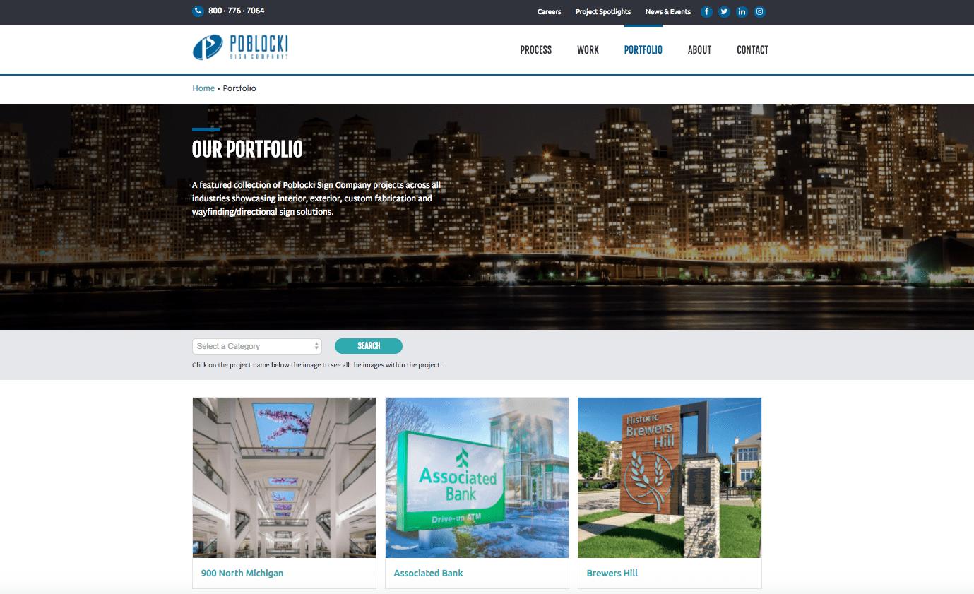 Poblocki portfolio webpage
