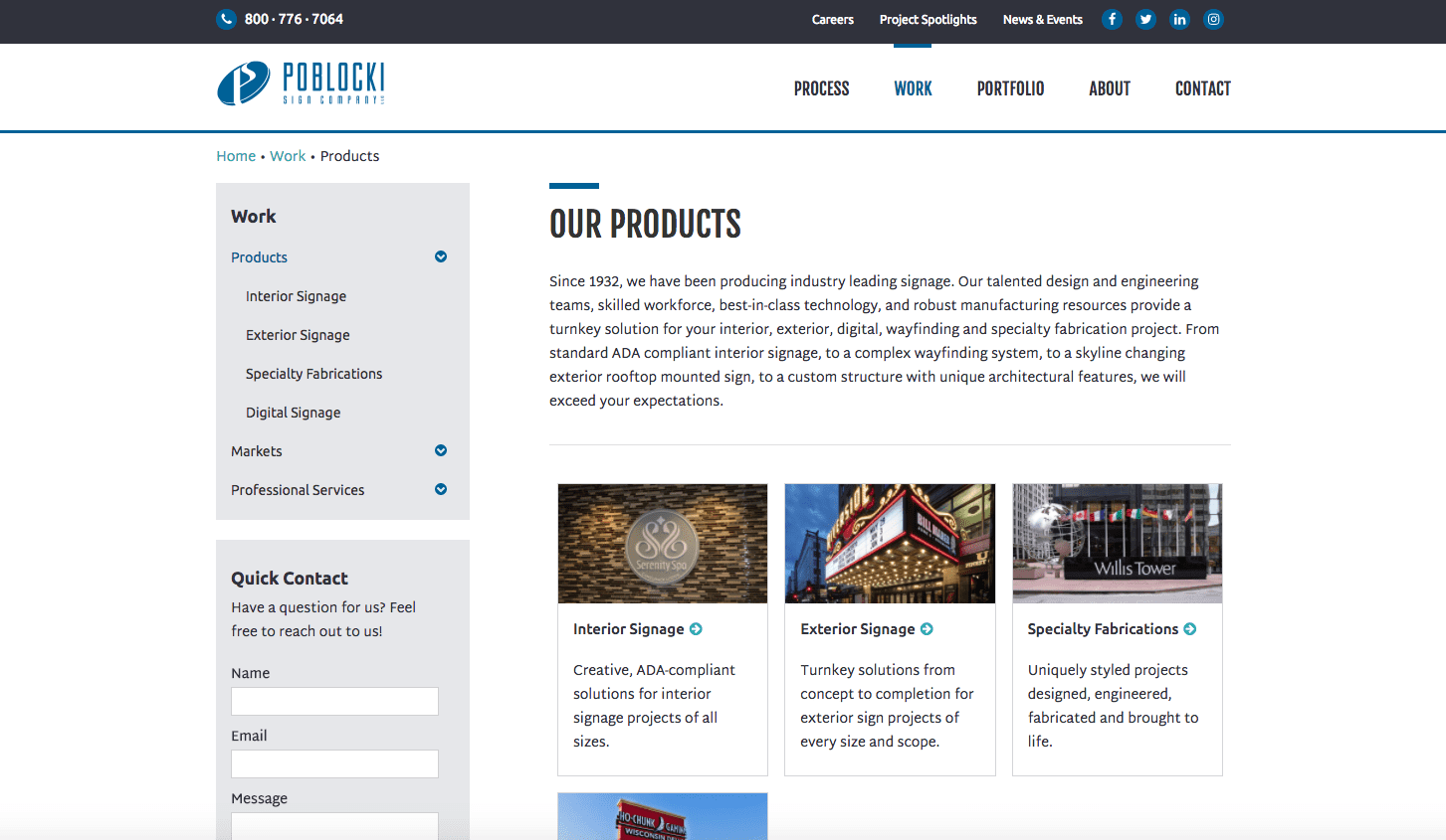 Poblocki Sign Company products page