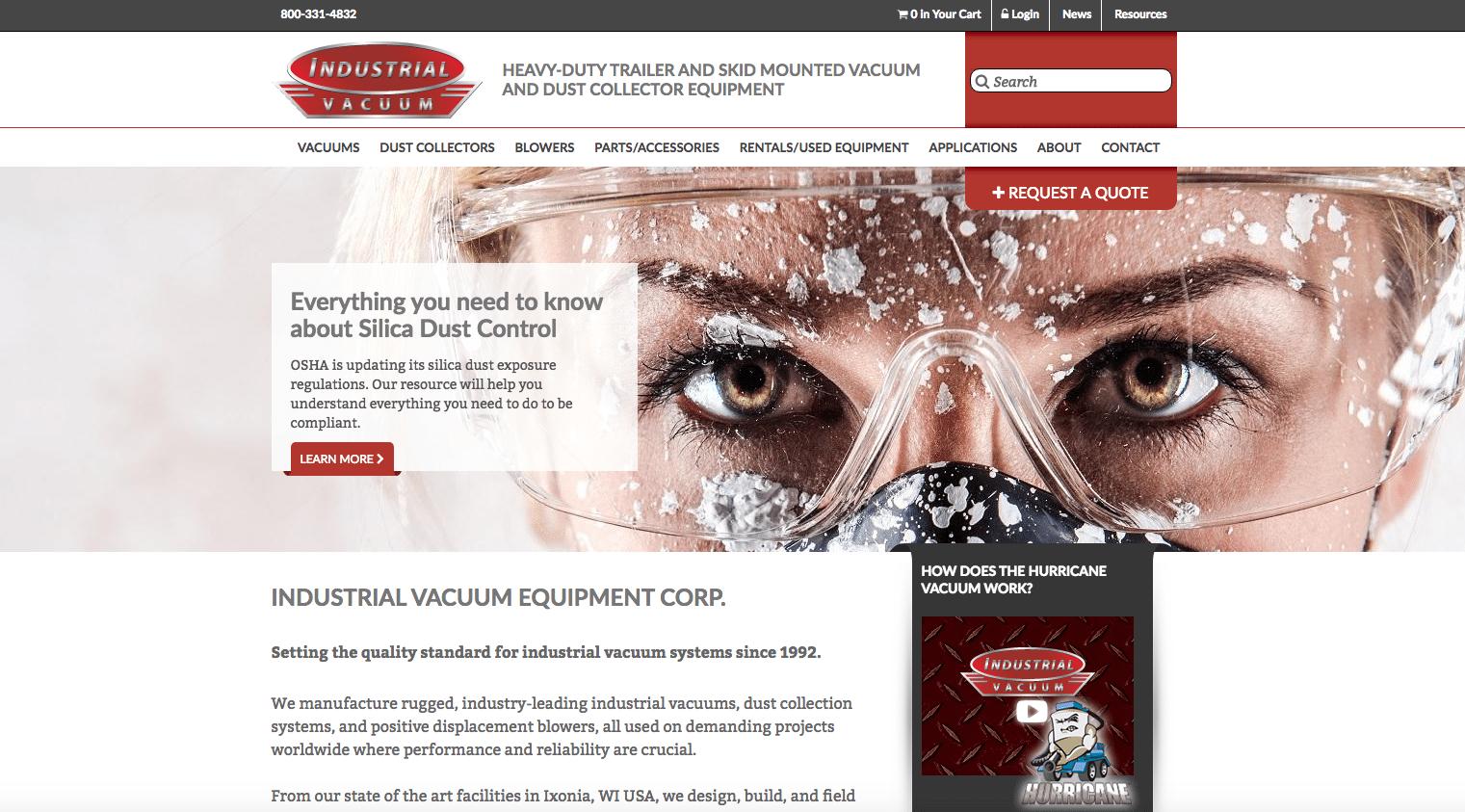 Industrial Vacuum homepage