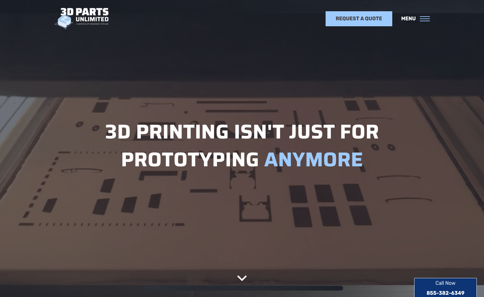 3D Parts Unlimited quote webpage