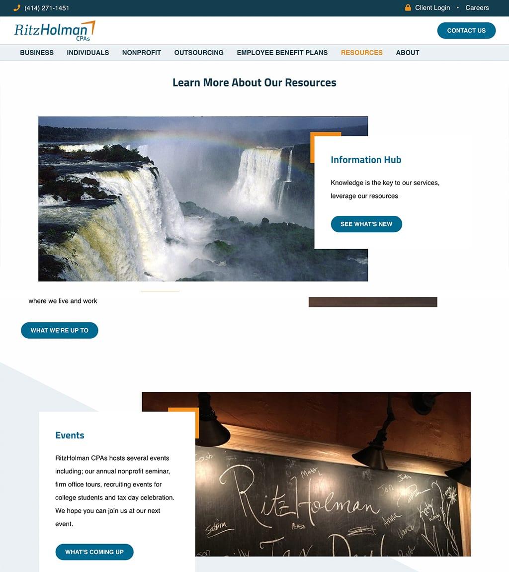 Ritz Holman Resources webpage