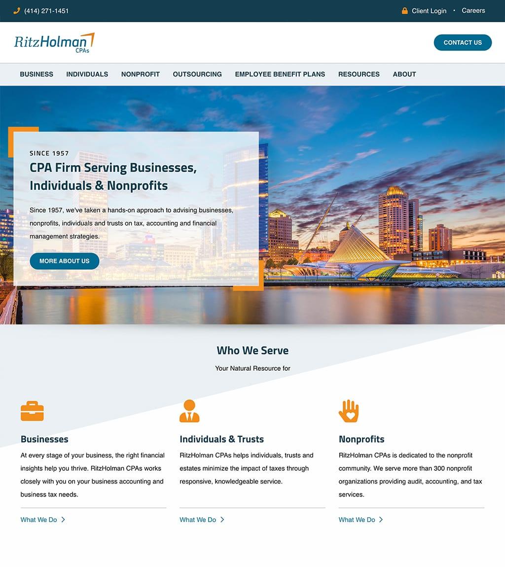 Ritz Holmon website homepage