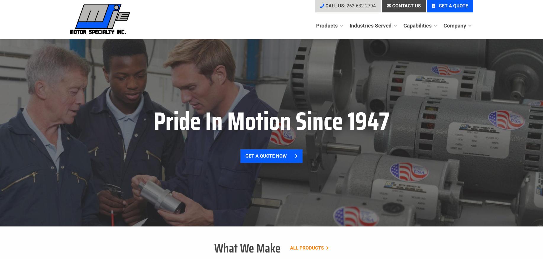 Motor Specialty Homepage