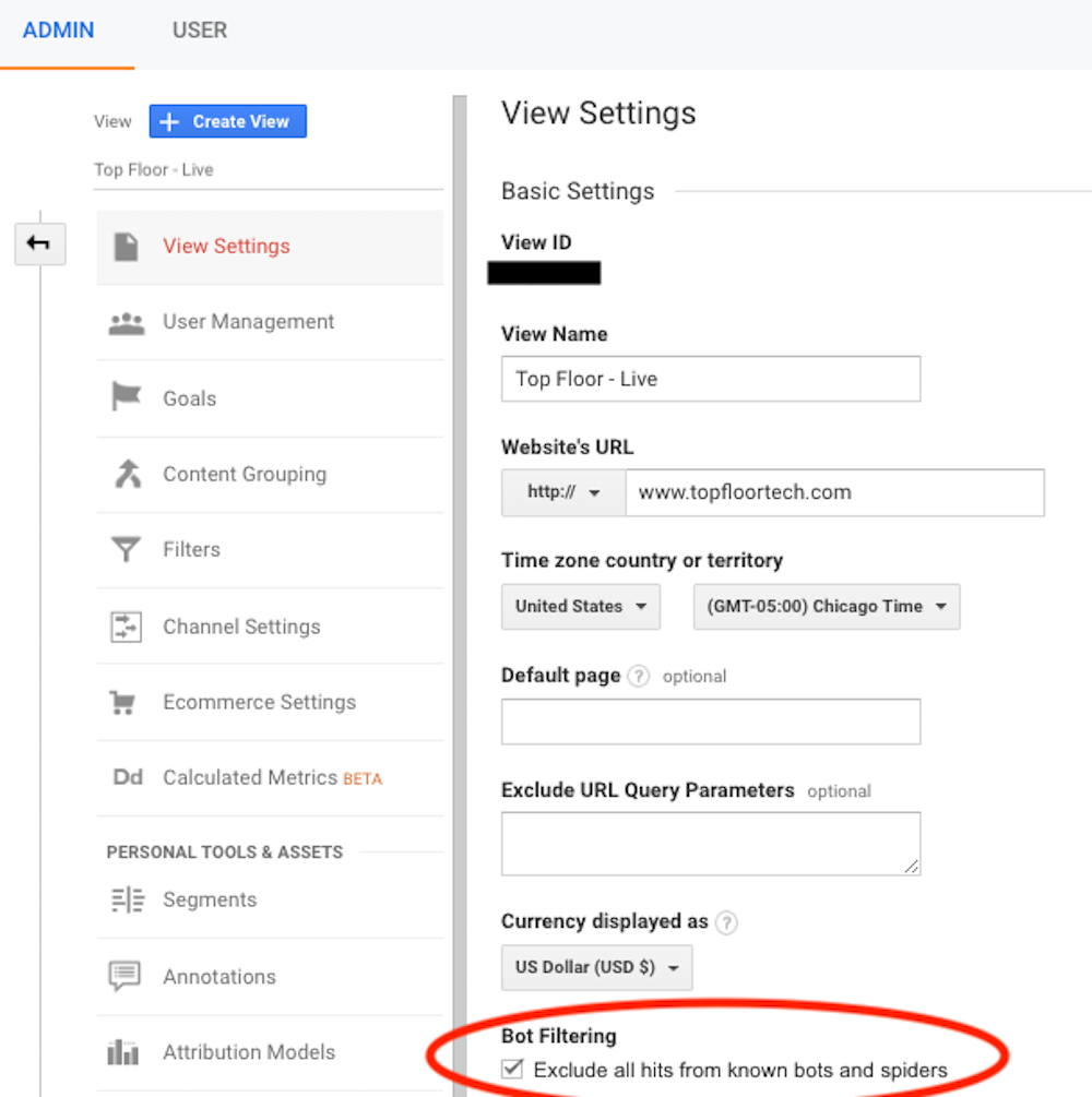 Google Analytics Spam Filters