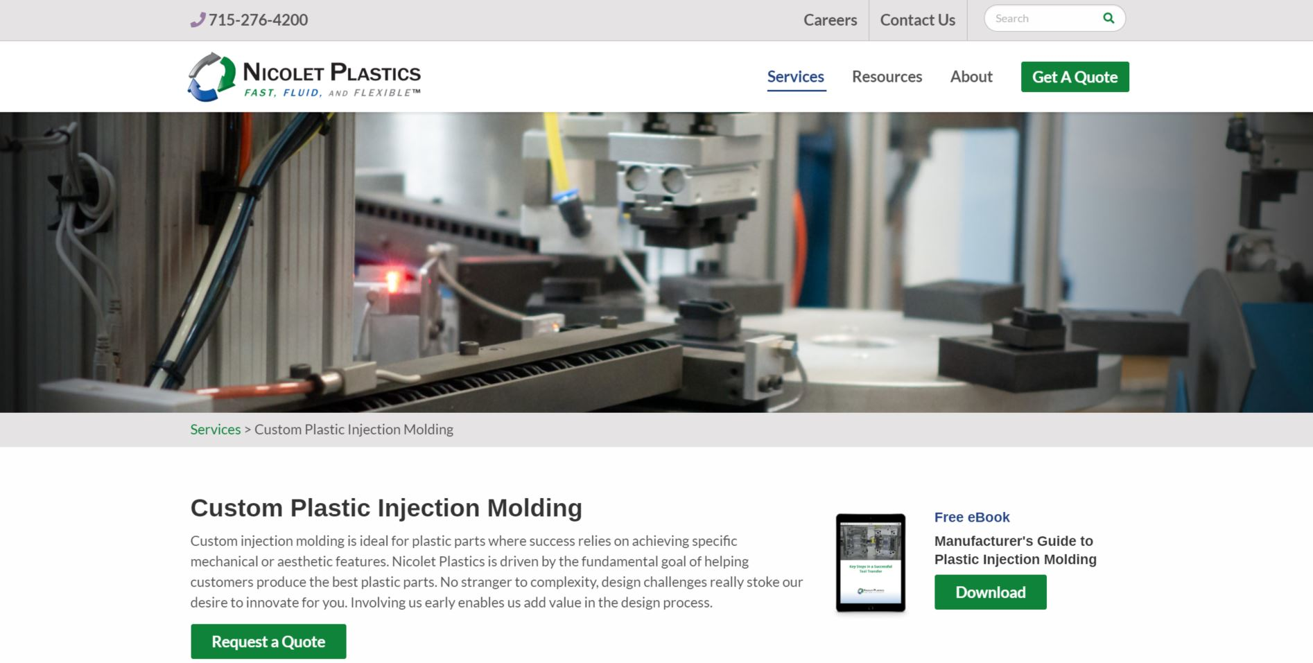 nicolet plastics website