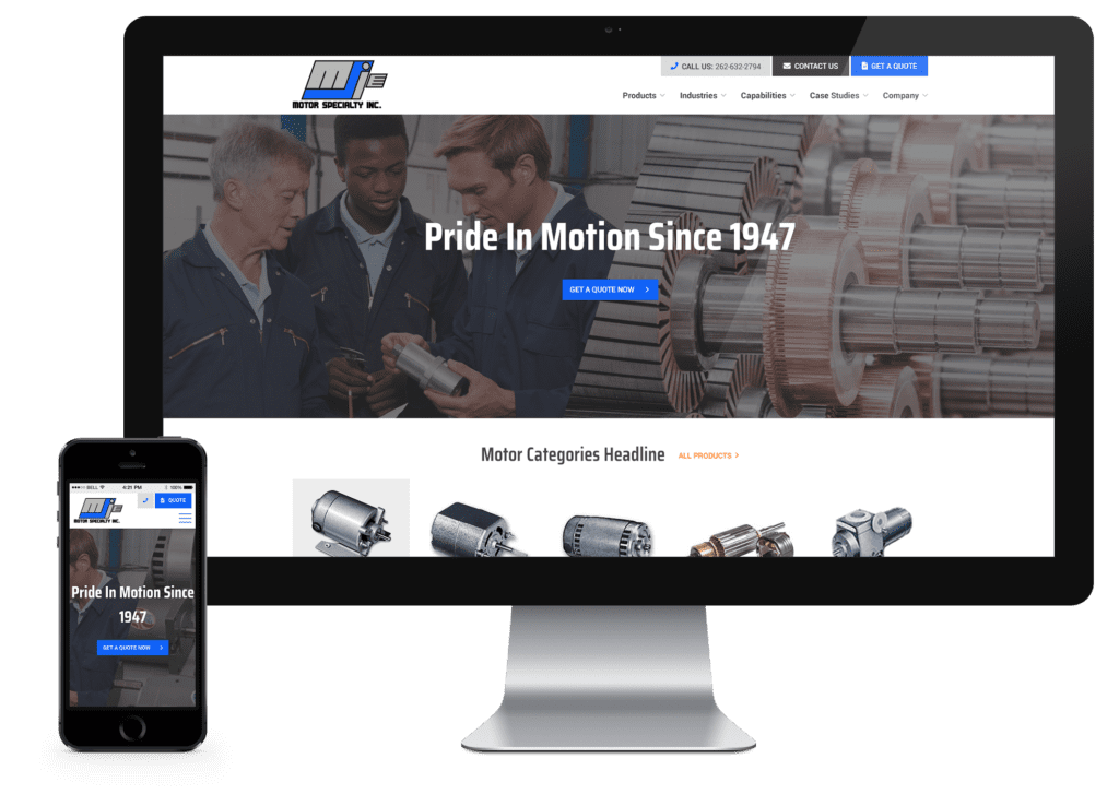 Motor Specialty new desktop website
