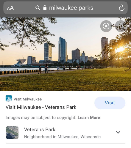 Milwaukee Parks Image Search