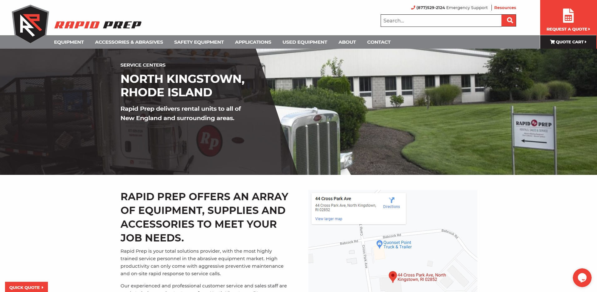 Rapid Prep location webpage