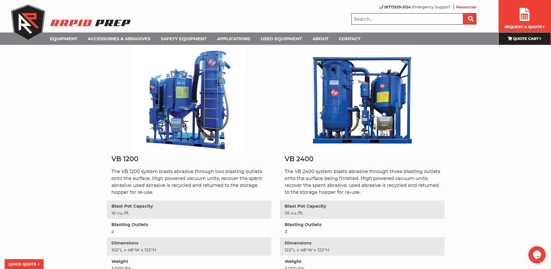 Rapid Prep Product detail page