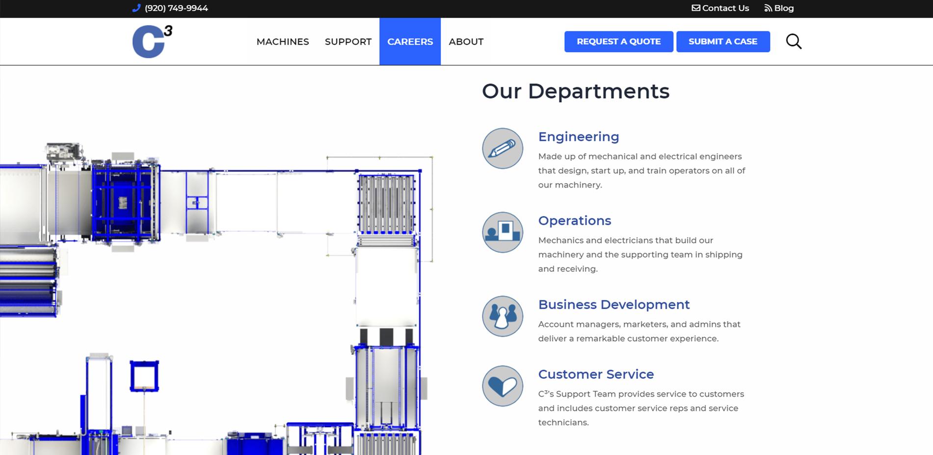 C3 Careers webpage