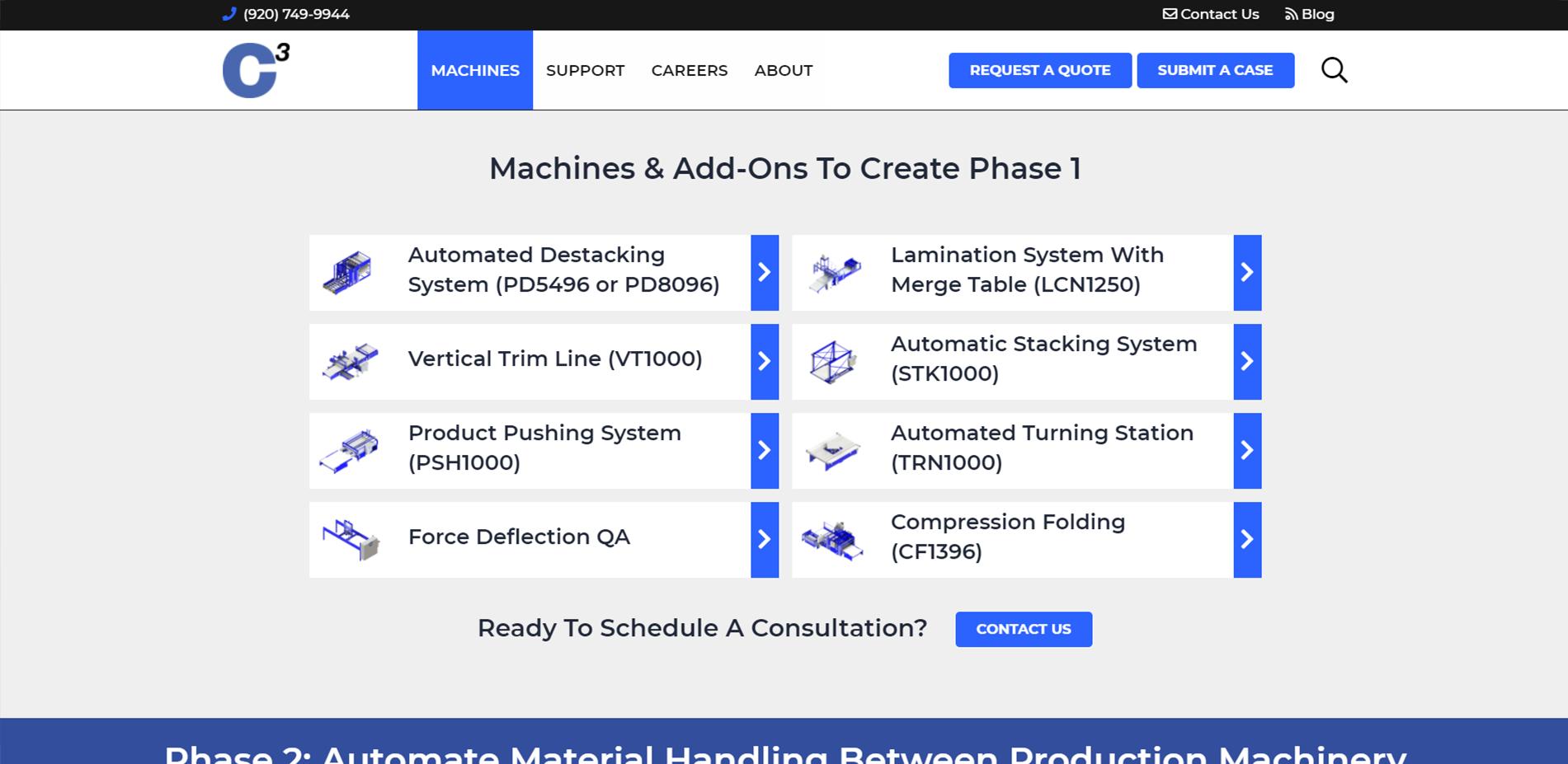 C3 Machines website