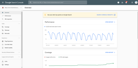 image of search console insights